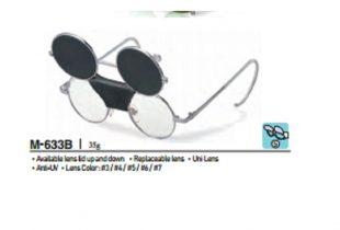 Kính bảo hộ thợ hàn xì 2 lớp mắt kính OTOS 633B''5 Hàn Quốc