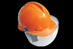mũ bảo hộ BB-N80 kết hợp kính nhựa trắng