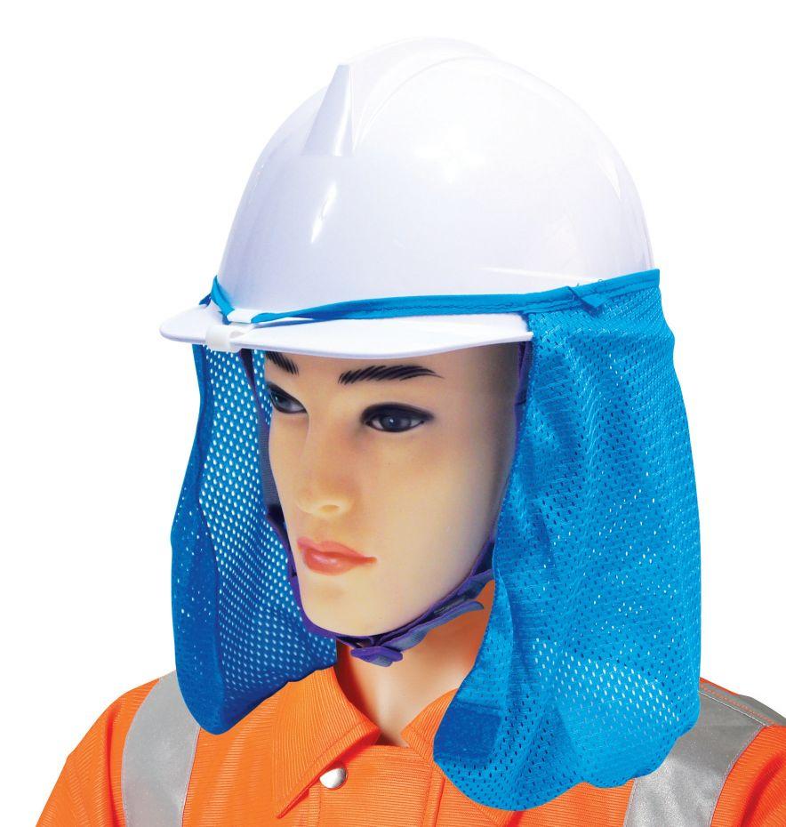Vành mũ che nắng Hanko Hàn Quốc STOP màu xanh
