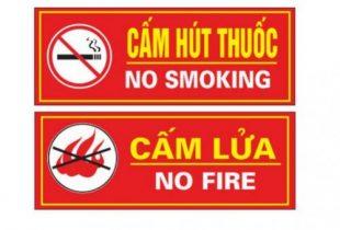 Cấm lửa và cấm hút thuốc chữa cháy cứu hỏa tại Hanko
