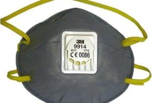 Khẩu trang lọc bụi 3M 9914 có van thở
