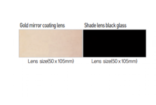 Miếng kính hàn đen Hàn Quốc OTOS size(50×105)mm