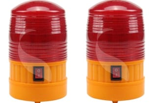 Đèn cảnh báo giao thông 5088 (φ8.5*H14.5)cm dùng pin