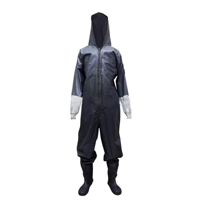Quần áo cao su dày chống hóa chất mạnh axit ( áo liền quần ủng)