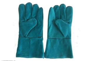 Găng tay da hàn 02 lớp dài 31cm Pháp
