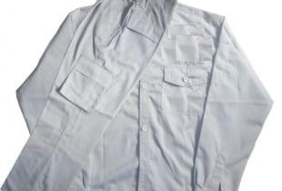 Quần áo bảo hộ lao động túi hộp vải LDHQ màu ghi sáng