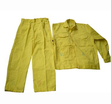 Quần áo bảo hộ kaki cotton dày màu vàng chanh