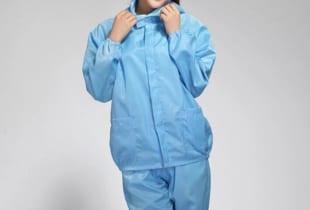 Bộ quần áo phòng sạch chống tĩnh điện Vinilon TQ ( Xịn)