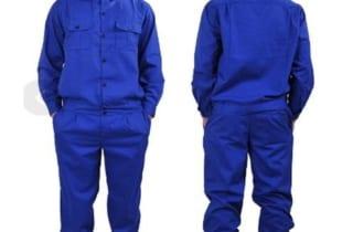 Bộ quần áo bảo hộ vải LDHQ đẹp màu xanh