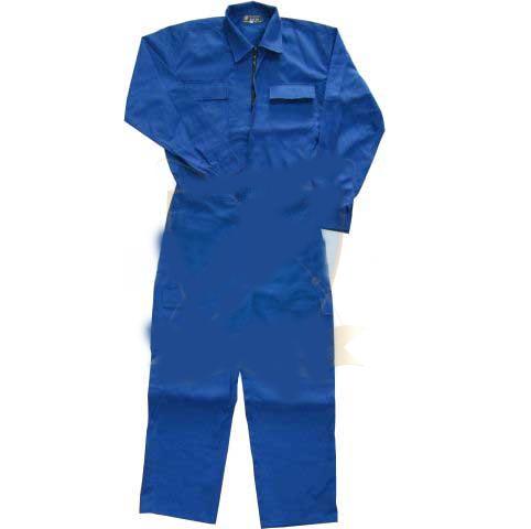 đồng phục áo liền quần vải kaki cotton màu xanh