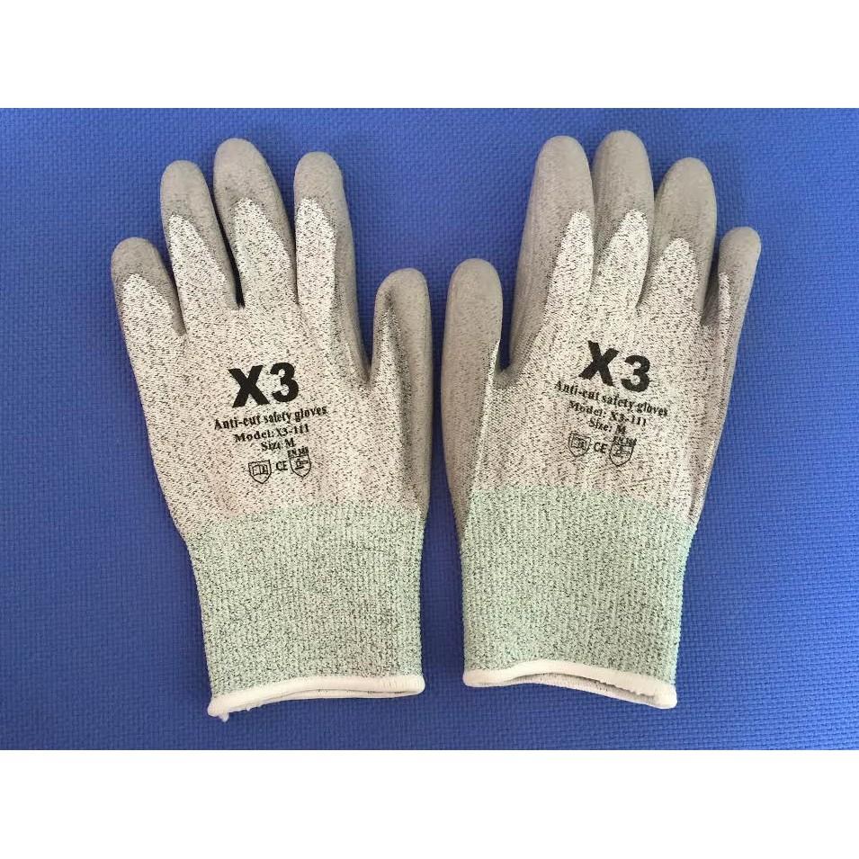 Găng tay chống cắt Hàn Quốc X3-111 cấp độ 5 tiêu chuẩn CE