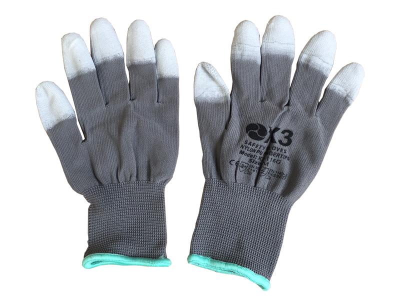 Găng tay chống tĩnh điện Hàn Quốc X3-116G phủ PU đầu ngón