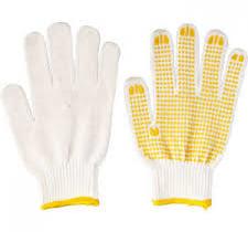 Giá găng tay sợi phủ hạt nhựa cổ vàng