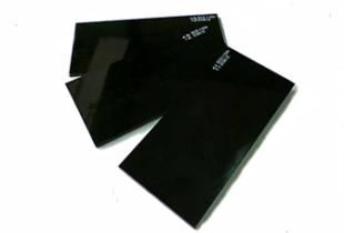 Miếng kính Hàn Đức màu đen/trắng KT (50x100x2,5)mm